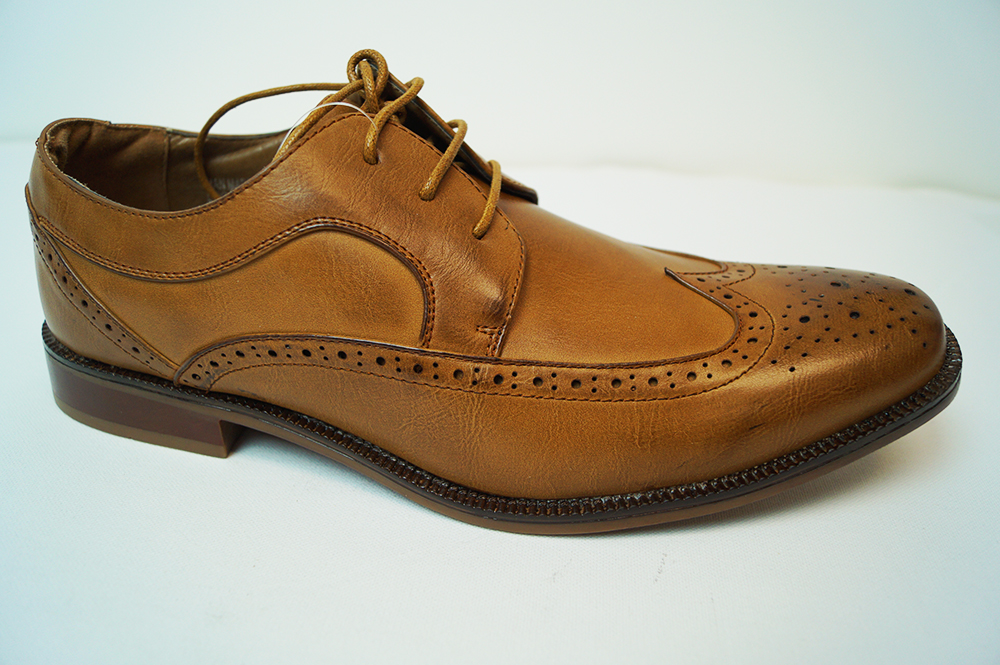 JMD Tonys Casual Shoes In Burnished Tan Wingtips - JMD MensWear dcfc0cc82af